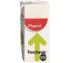 Ластик Maped Technic Mini, 39×18×12,5 мм, белый