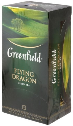 Чай Greenfield 50 г, 25 пакетиков, Flying Dragon, зеленый чай